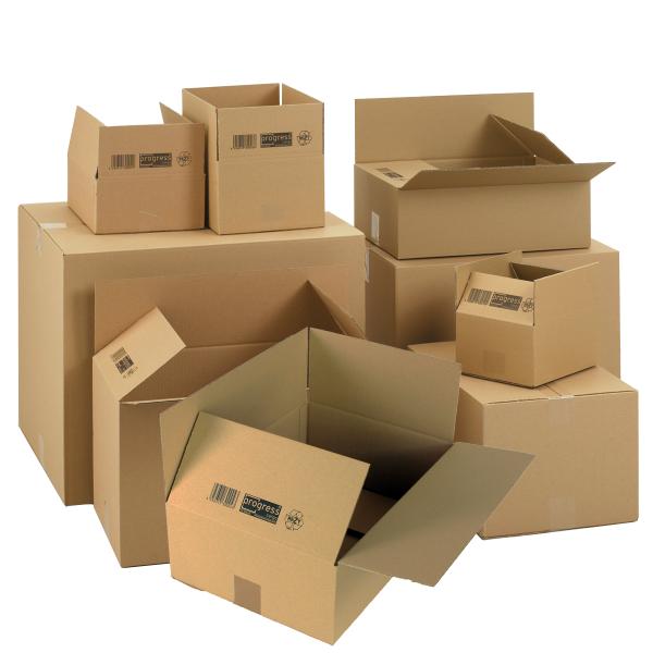 Faltkartons 600x480x485 mm zweiwellige Kartonagen - Karton